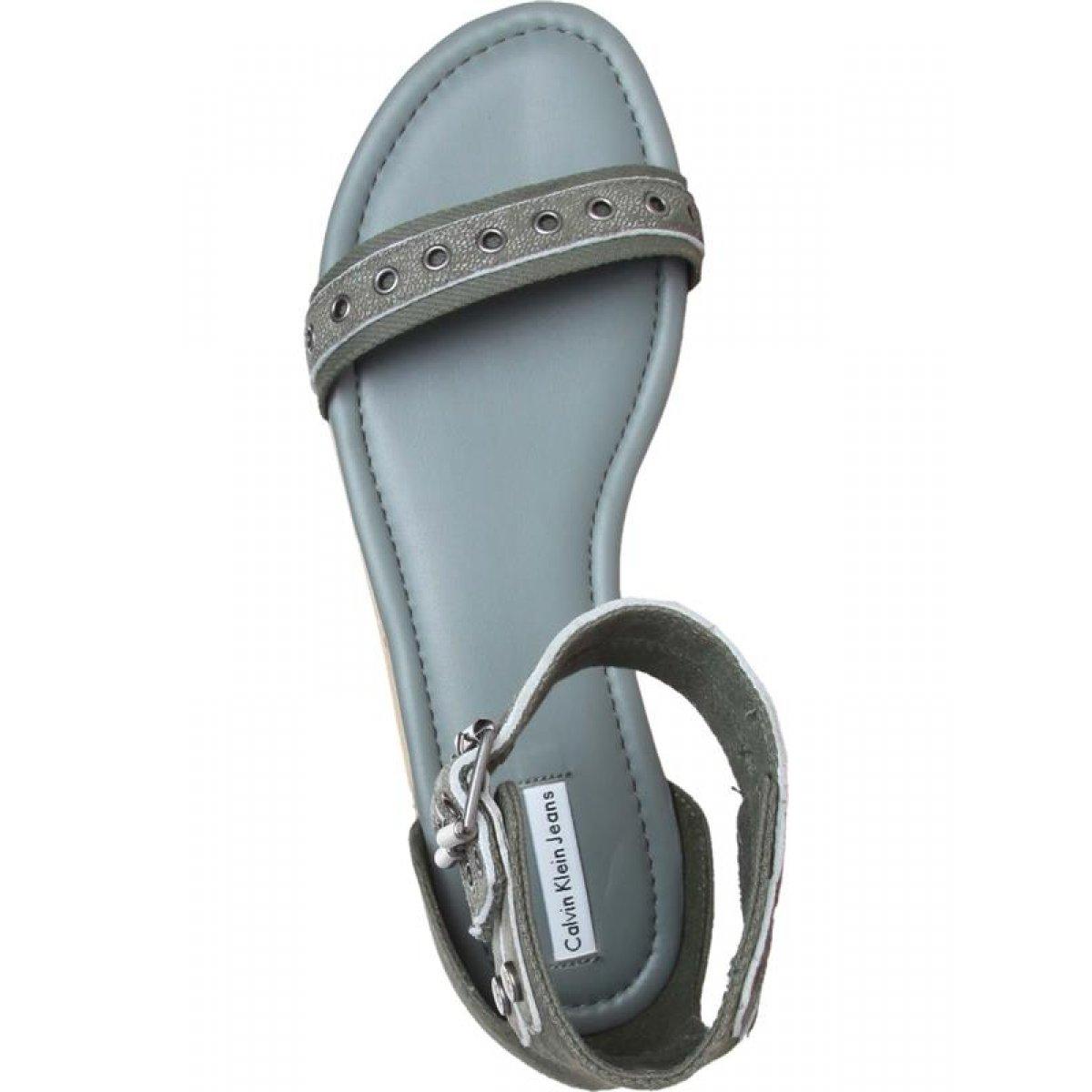 calvin klein damen leder sommer schuhe sandalen sandaletten pantoletten 49 90. Black Bedroom Furniture Sets. Home Design Ideas