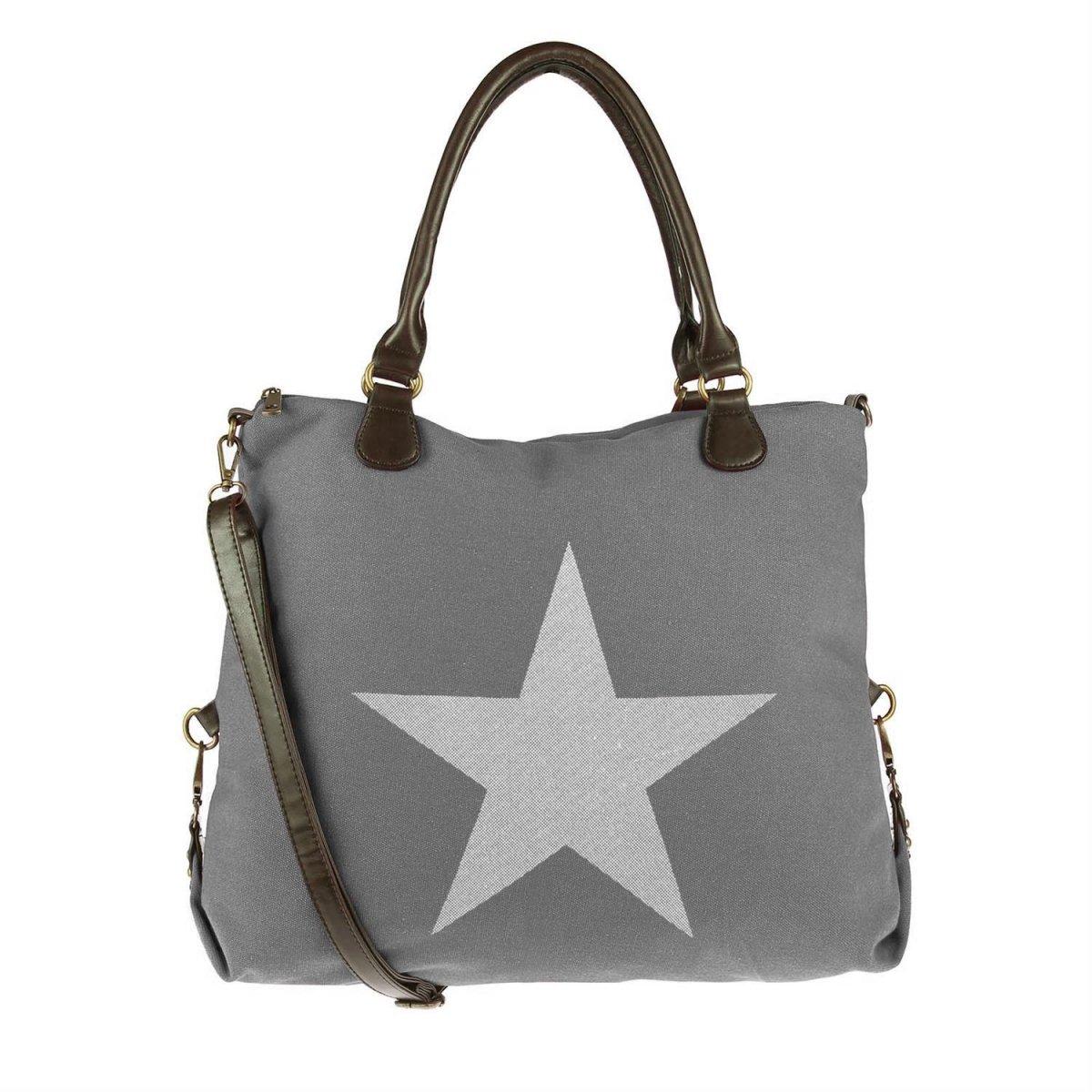 damen xxl stern shopper tasche handtasche damentasche. Black Bedroom Furniture Sets. Home Design Ideas