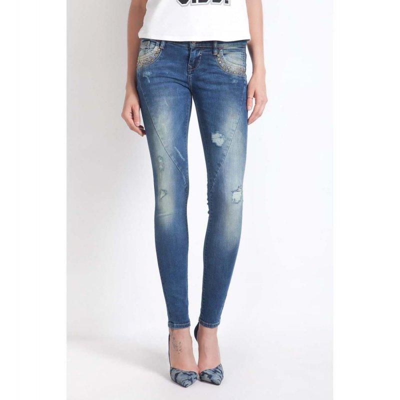 ltb diane damen damenjeans stretch jeans r hre super slim dirty bl. Black Bedroom Furniture Sets. Home Design Ideas