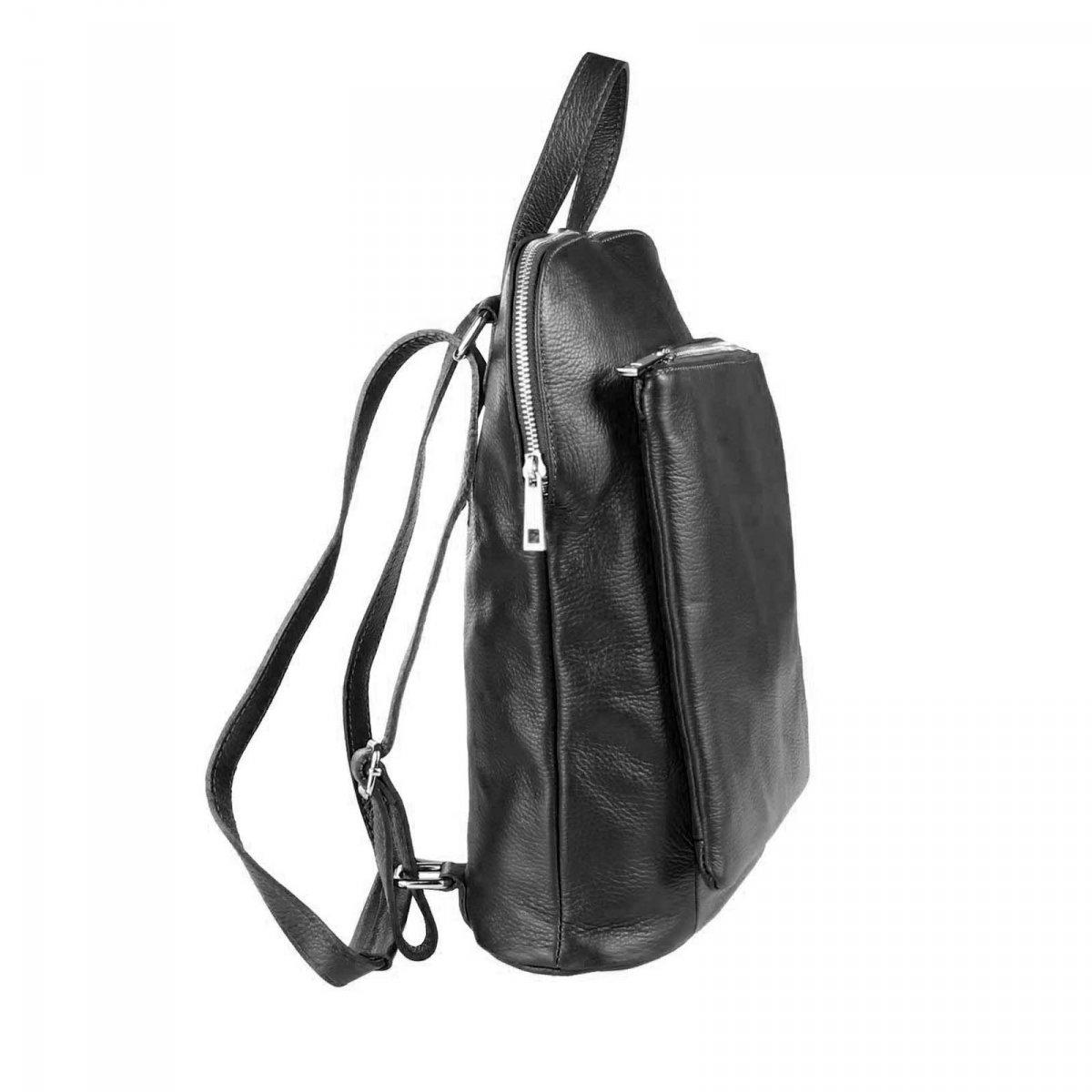 obc made in italy damen echt leder rucksack daypack lederrucksack tasche schultertasche le. Black Bedroom Furniture Sets. Home Design Ideas