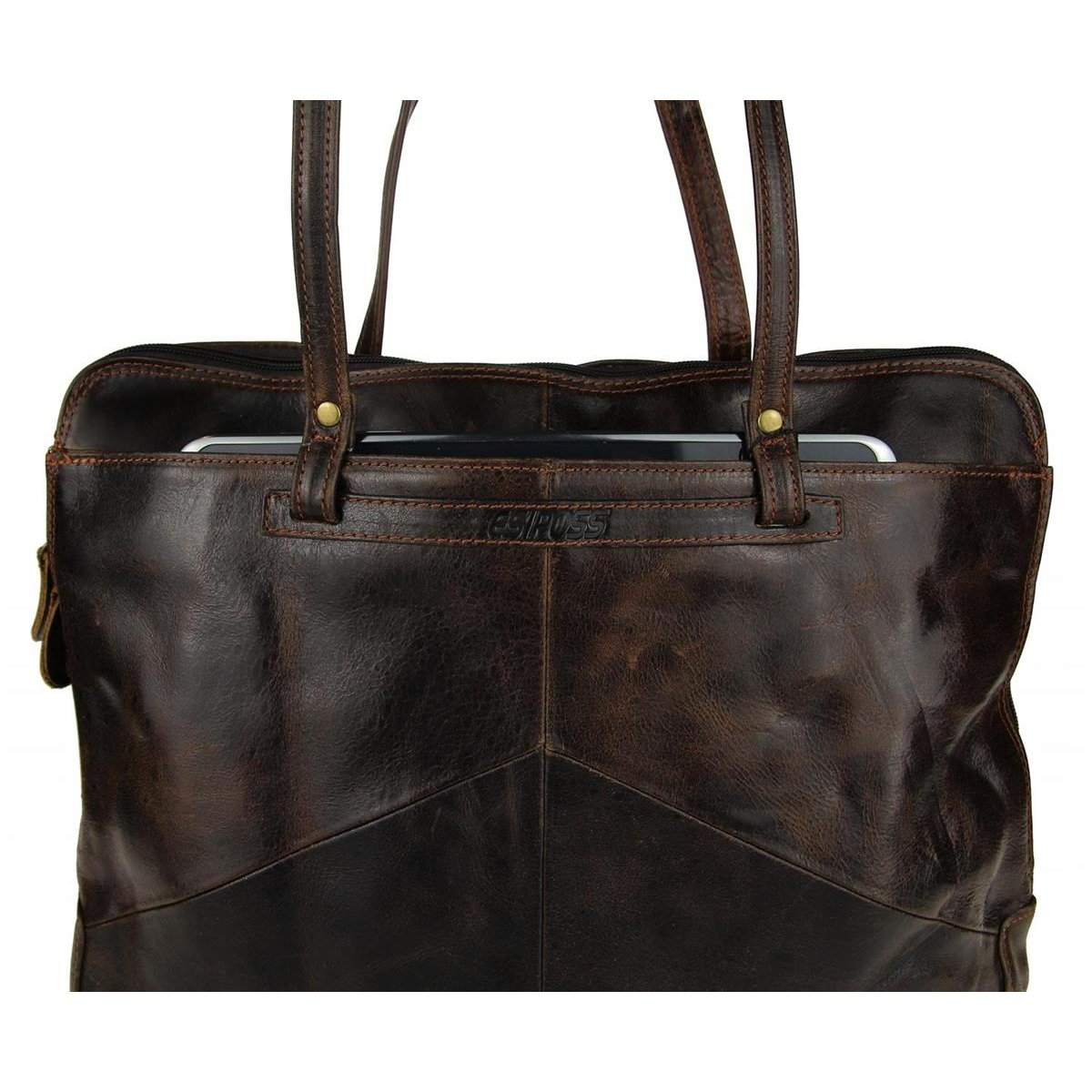 ital damen tasche businesstasche vintage retro style leder handtasche. Black Bedroom Furniture Sets. Home Design Ideas