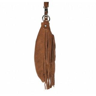 0a09c2edb43c7 ... Made in Italy Damen Tasche Leder Wildleder Fransen Schultertasche  Umhängetasche