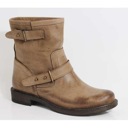 Ovye by Cristina Lucchi echt Leder Stiefel Stiefeletten Schuhe Ankle Boots Biker Fango/Taupe 38