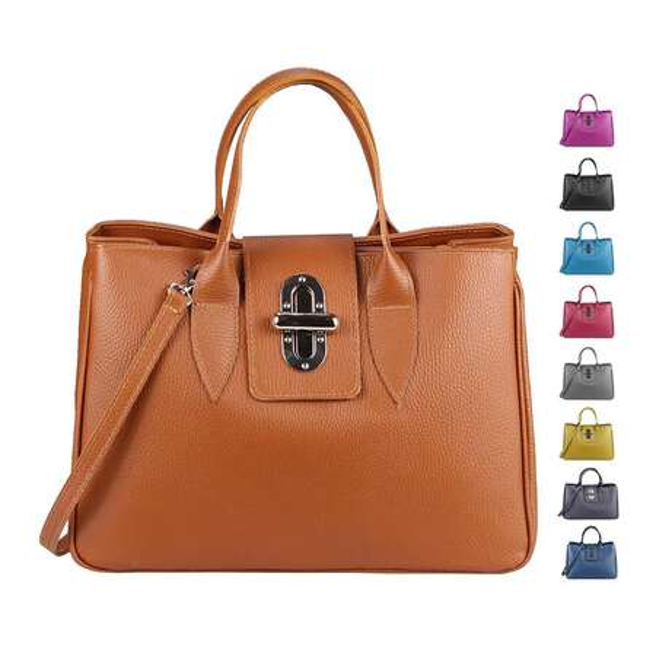 9287c82114dfa OBC Made in Italy Damen Echt Leder Tasche Business Shopper Aktentasche  Schultertasche Handtasche Ledertasche Kroko- ...