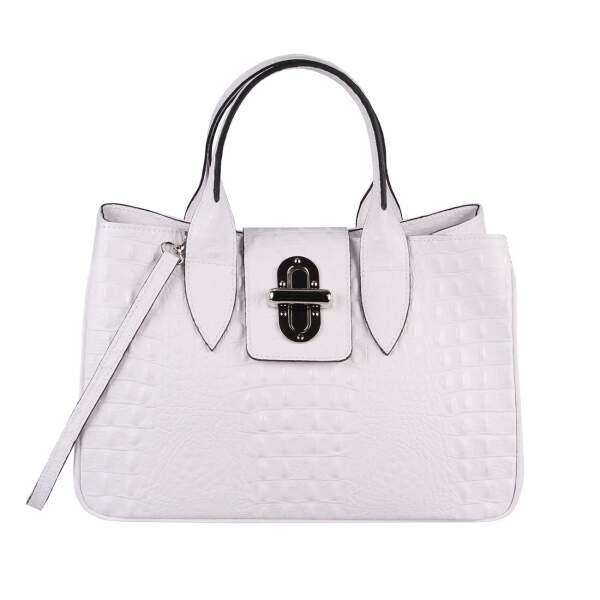 2d3351fc86dfc OBC Made in Italy Damen Echt Leder Tasche Kroko-Prägung Business Shopper  Aktentasche Schultertasche Handtasche ...