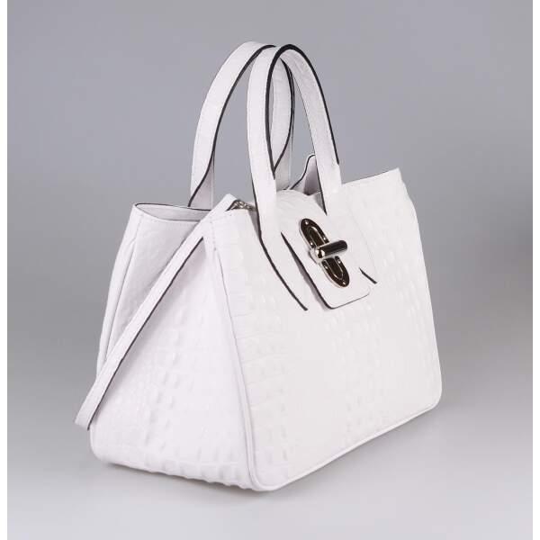 5e1e46e61da22 ... OBC Made in Italy Damen Echt Leder Tasche Kroko-Prägung Business  Shopper Aktentasche Schultertasche Handtasche ...