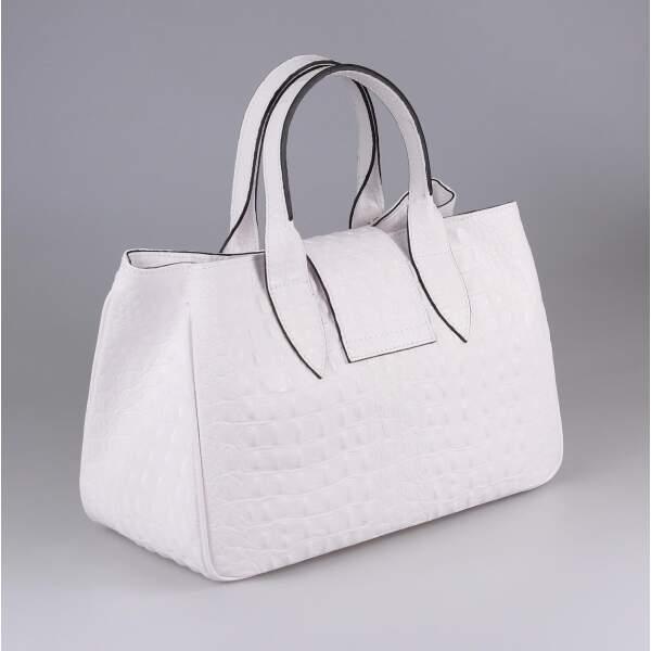 42bfc3b790fa6 ... OBC Made in Italy Damen Echt Leder Tasche Kroko-Prägung Business  Shopper Aktentasche Schultertasche Handtasche