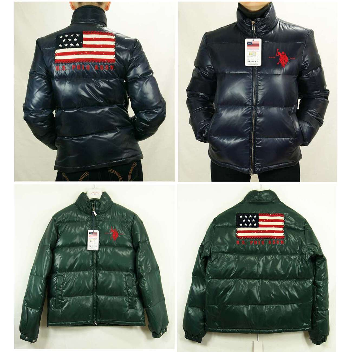 3679e62b1c2 US Polo ASSN USA Flagge WinterJacke Jacke Daunenjacke Jacke Steppjacke ...