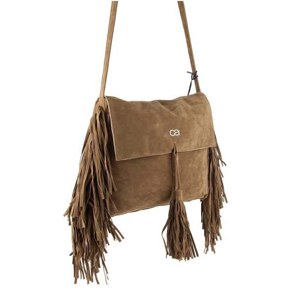 266e25a37bd43 ital-design Fransen Damentasche Schultertasche Umhängetasche Tasche Beutel  Beuteltasche Trend-Bags PU Wildleder ...
