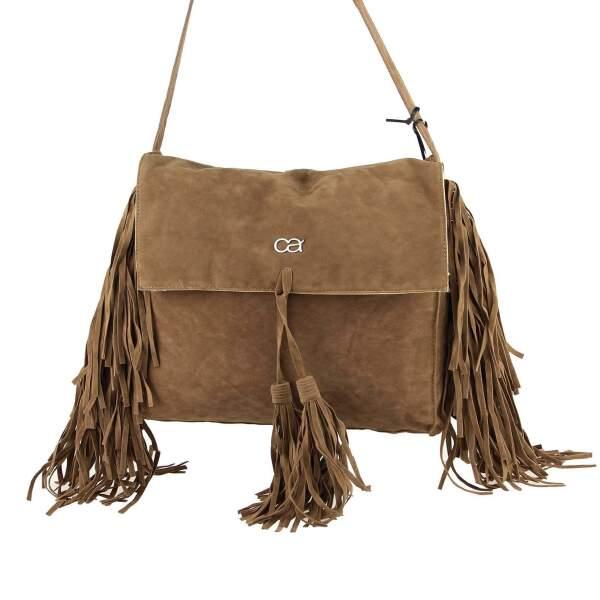 ce8bc90f20b3f ... ital-design Fransen Damentasche Schultertasche Umhängetasche Tasche  Beutel Beuteltasche Trend-Bags PU Wildleder ...