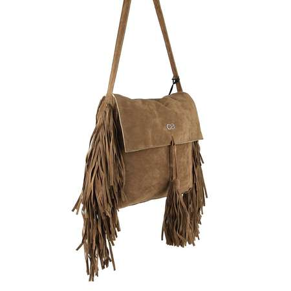Neu Braun Schultertasche Wildleder Damen Tasche mit Fransen Umhängetasche