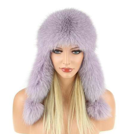 e9938473bee WOMEN fur hat fur hat FUCHS aviator hat winter hat cap Fox Ushanka ...