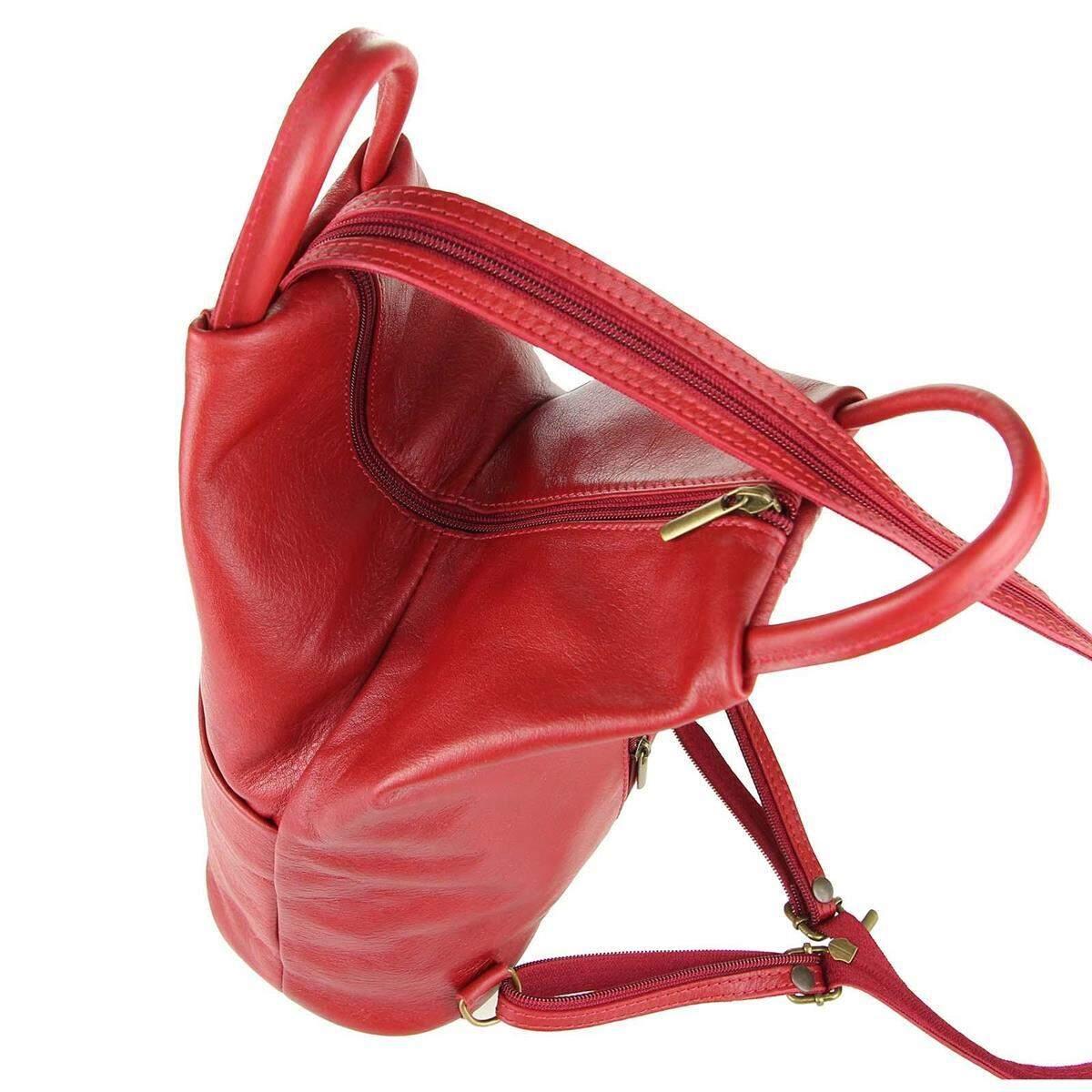ital damen echt leder rucksack daypack backpack lederrucksack tasche schultertasche ledertasche. Black Bedroom Furniture Sets. Home Design Ideas