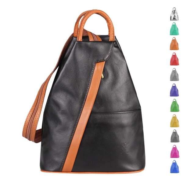 153a442046606 Made in Italy Damen echt Leder Rucksack Backpack Lederrucksack Tasche  Schultertasche Ledertasche Nappaleder