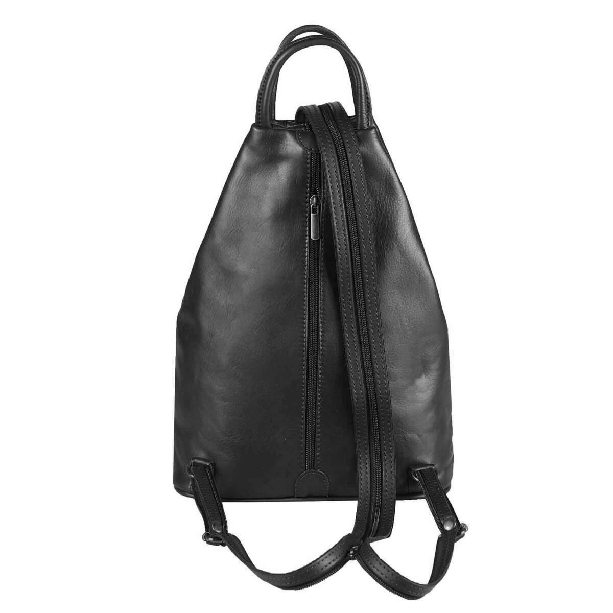 obc damen echt leder rucksack schultertasche schwarz 69 95. Black Bedroom Furniture Sets. Home Design Ideas