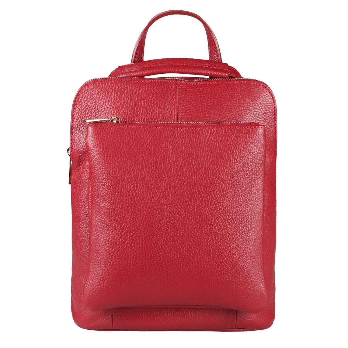 obc made in italy damen echt leder rucksack daypack lederrucksack tasche schultertasche. Black Bedroom Furniture Sets. Home Design Ideas