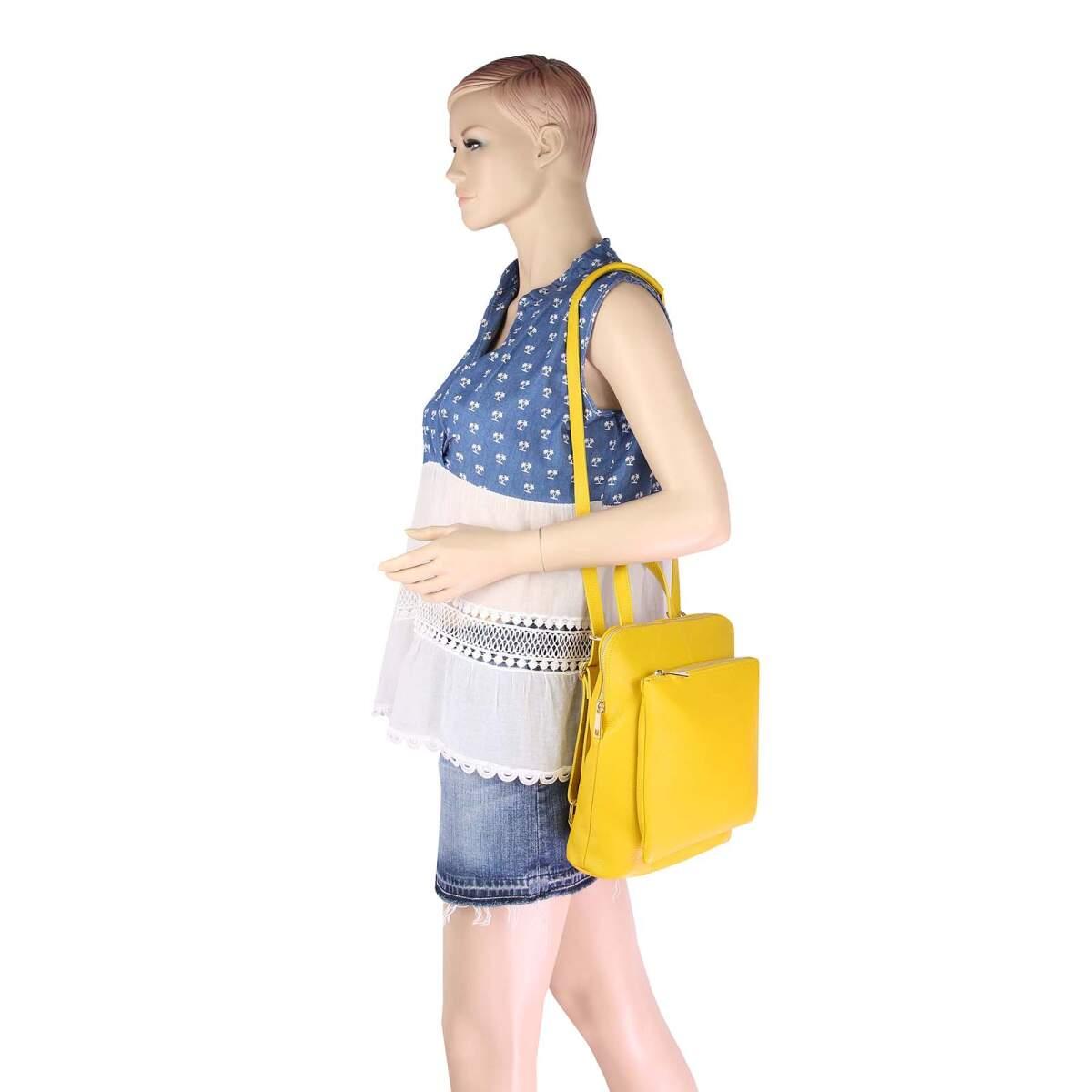obc made in italy damen echtleder rucksack daypack lederrucksack tasche. Black Bedroom Furniture Sets. Home Design Ideas