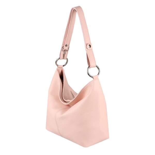 6ac1e39a2bfbb ... ITAL DAMEN LEDER TASCHE Shopper Schultertasche Umhängetasche Hobo Bag  Handtasche ...