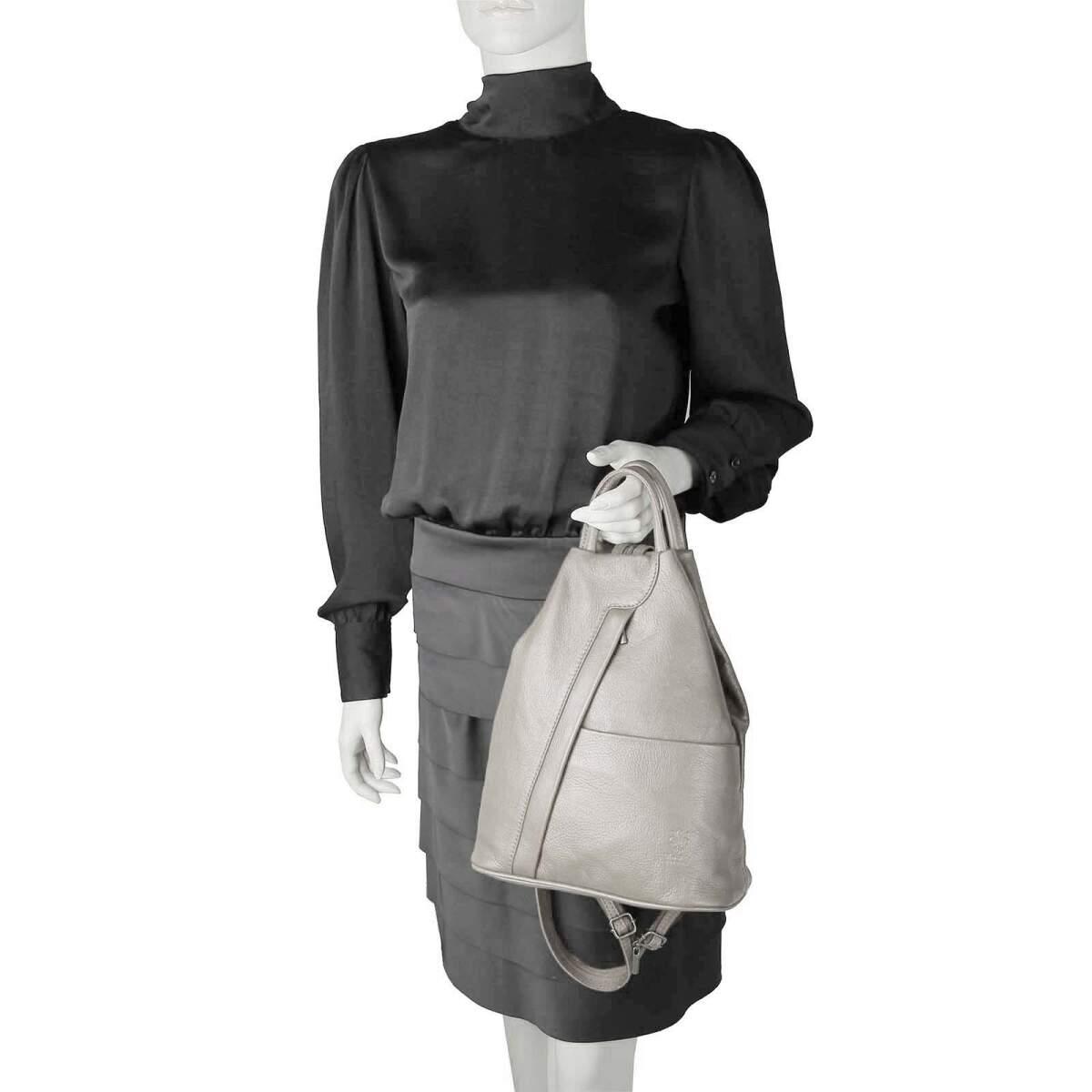 ital damen echt leder rucksack lederrucksack tasche. Black Bedroom Furniture Sets. Home Design Ideas