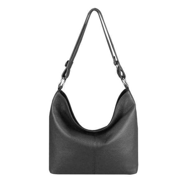 668a087c87d27 ... Made in Italy echt Leder Metallic Damen Tasche Shopper Hobo-Bags  Schultertasche Umhängetasche Handtasche Ledertasche ...