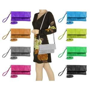 OBC Damen Leder Tasche Crossbody Handtasche Umhängetasche