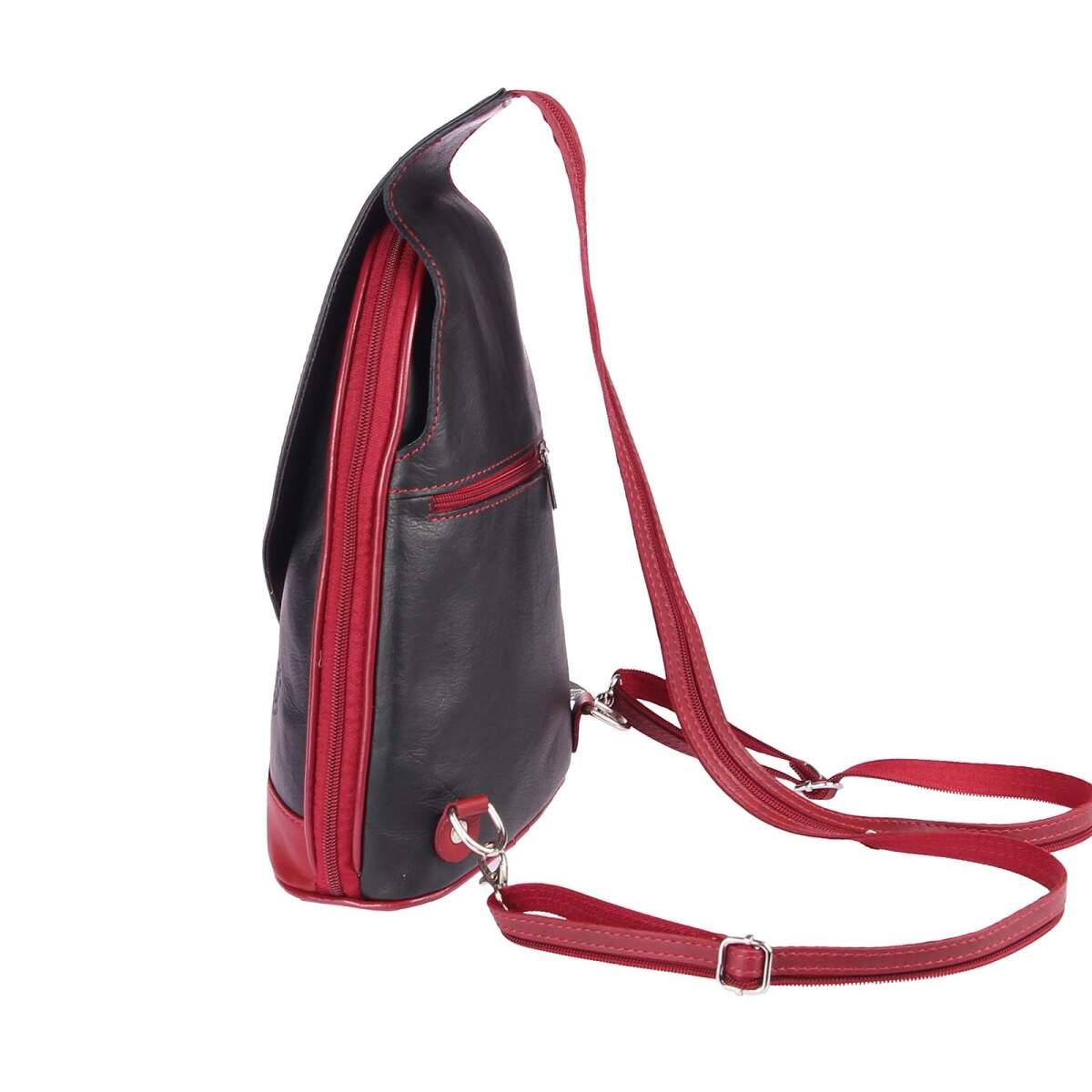 obc made in italy damen echt leder rucksack minirucksack lederrucksack tasche schultertasche. Black Bedroom Furniture Sets. Home Design Ideas