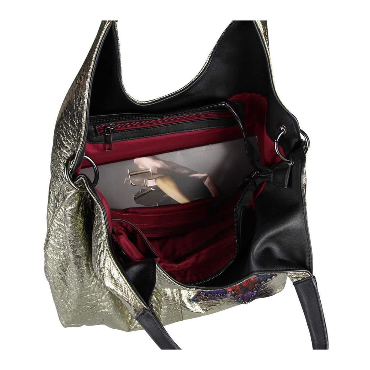 obc damen stern tasche metallic nieten handtasche fransen. Black Bedroom Furniture Sets. Home Design Ideas