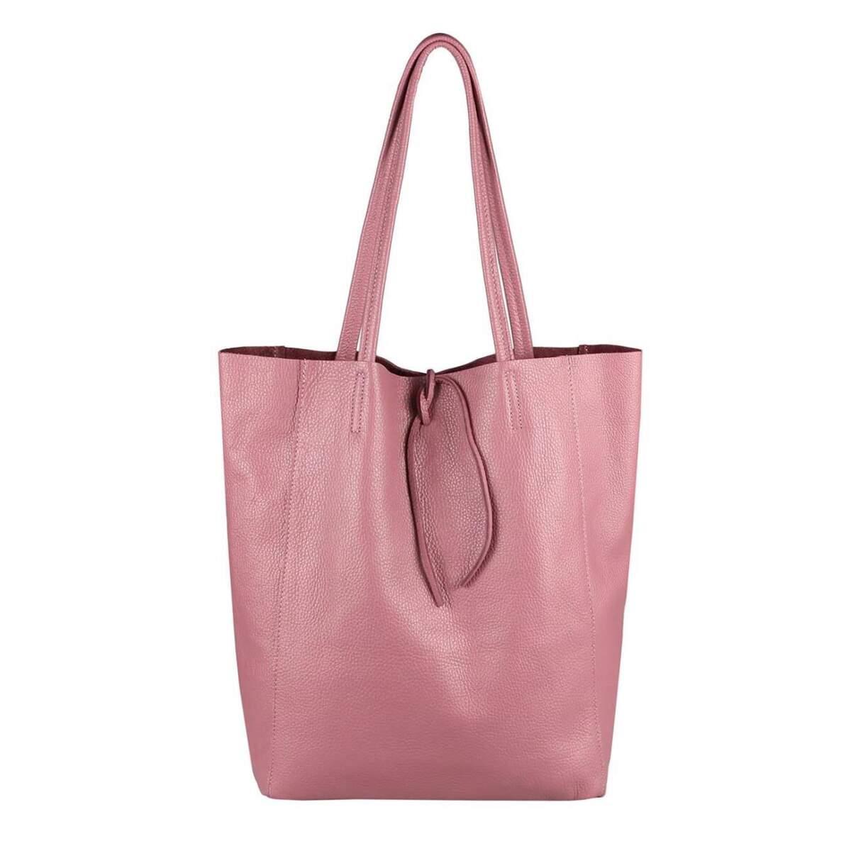 6492100b75703 OBC Made in Italy DAMEN LEDER TASCHE DIN-A4 Shopper Schultertasche  Henkeltasche Tote Bag Metallic Handtasche Umhängetasche Beuteltasche