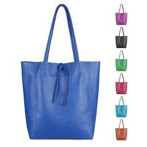 34a8b45c98674 OBC Made in Italy DAMEN LEDER TASCHE DIN-A4 Shopper Schultertasche  Henkeltasche Tote Bag Metallic Handtasche Umhängetasche Beuteltasche