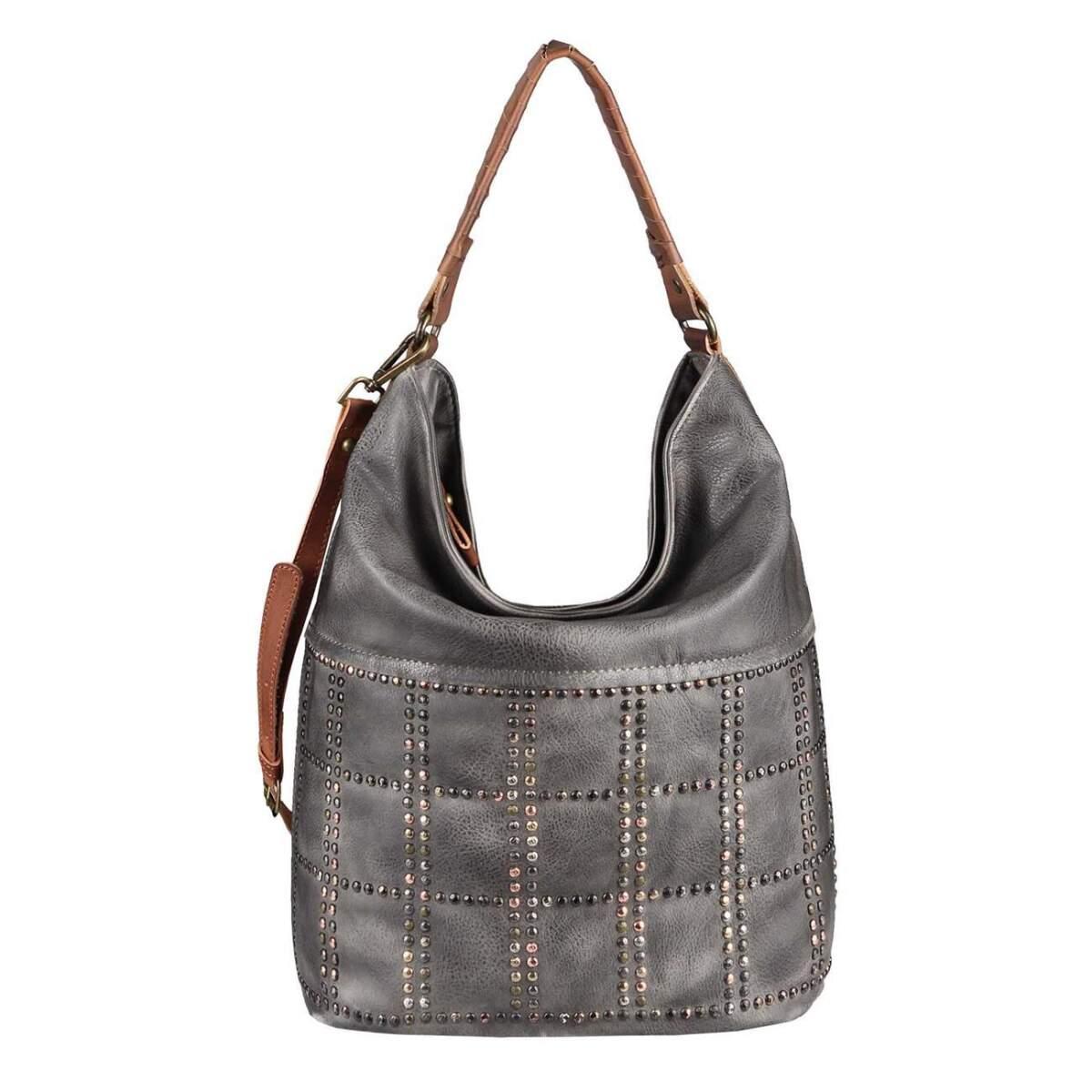 3b3b4bfdbd475 DAMEN HAND-TASCHE Hobo Bag Tasche Henkeltasche Nietentasche Umhängetasche Shopper  Schultertasche Beuteltasche