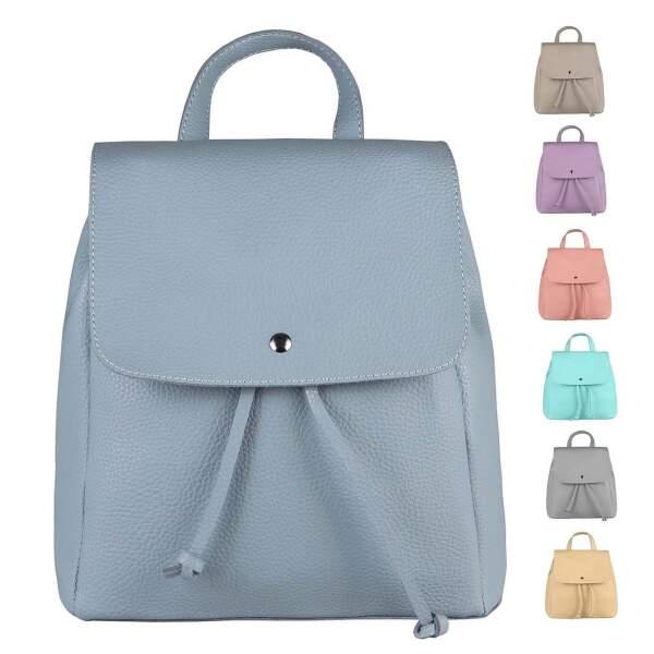 ecb68e9ba2d1d DAMEN RUCKSACK Cityrucksack LEDER optik Tasche Schultertasche Stadtrucksack Handtasche  Daypacks Backpack ...