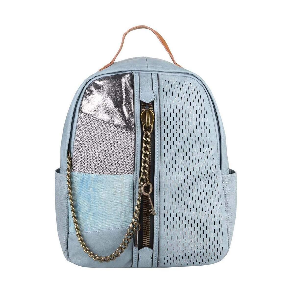 b3cc2f324954e DAMEN RUCKSACK TASCHE Cityrucksack Stadtrucksack Metallic Backpack  Schultertasche Handtasche Umhängetasche Shopper Ketten Daypack  Lederrucksack