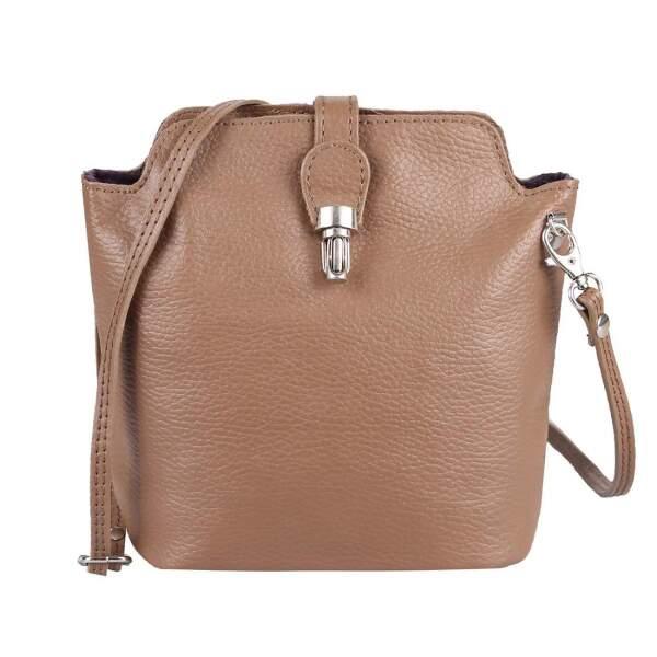 Bags, Damen Schultertasche Marron Camel Made In Italia