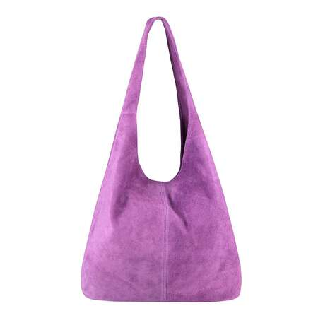 MADE IN ITALY DAMEN LEDER TASCHE Handtasche Wildleder Shopper Schultertasche
