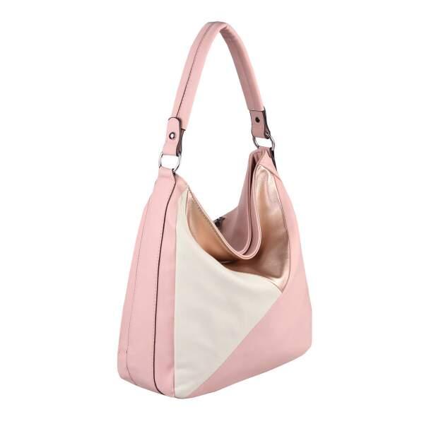 OBC DAMEN TASCHE XXL Metallic Shopper Hobo Bag Umhängetasche Ta032.Pink