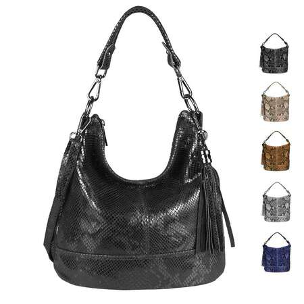 Damentasche Umhängetasche Handtasche Schultertasche Tasche Schwarz echt Leder