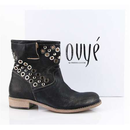 Ovye by Cristina Lucchi echt Leder Stiefel Stiefeletten Schuhe Ankle Boots GIT104