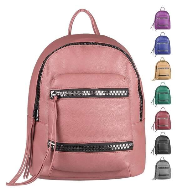 457941ae9ed11 Damen Rucksack Cityrucksack Schultertasche Leder Optik Backpack Tasche  Daypack Handtasche Umhängetasche ...