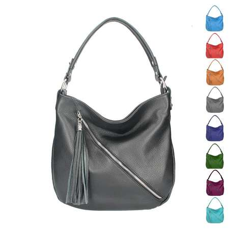 7c490ec4c8fca Made in Italy DAMEN LEDER TASCHE Shopper Schultertasche City Bag CrossOver  Umhängetasche Henkeltasche Ledertasche Damentasche Fransen ...