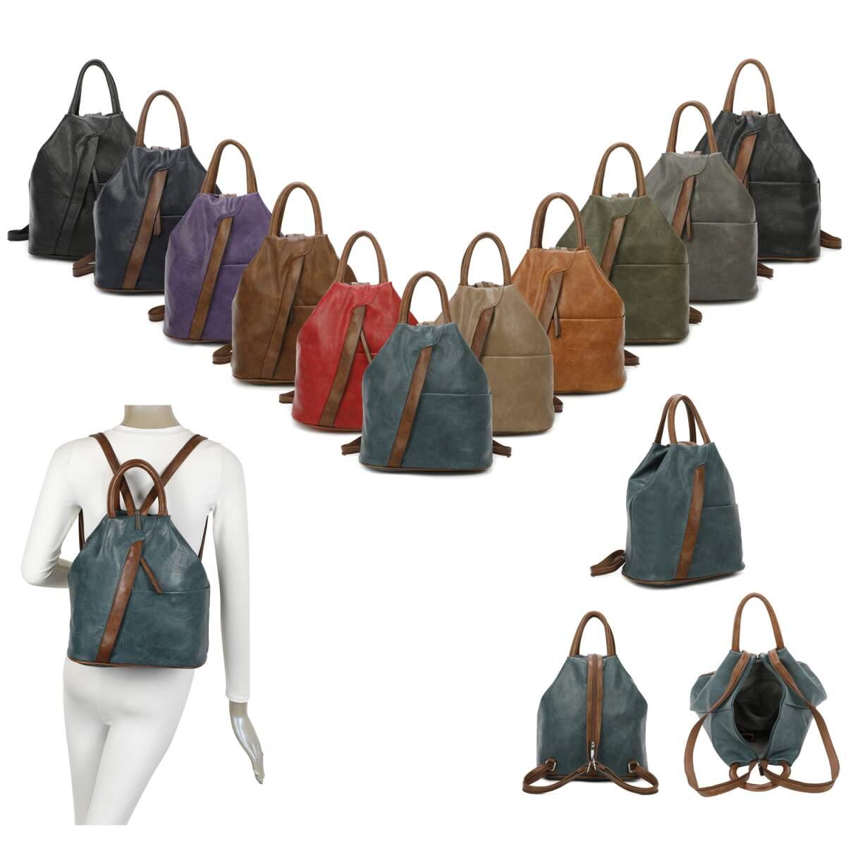 Volumen groß viele möglichkeiten unschlagbarer Preis OBC Damen Rucksack Tasche Schultertasche Leder Optik Daypack Backpack  Handtasche Tagesrucksack Cityrucksack
