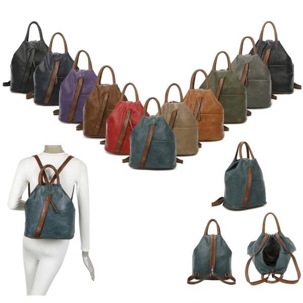 damen rucksack mit handtasche funktion