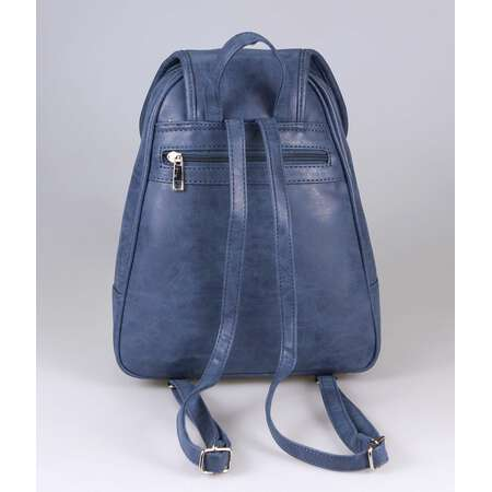 OBC DAMEN RUCKSACK ORGANIZER Cityrucksack Schultertasche Stadtrucksack BackPack Handtasche Daypack Leder Optik Tablet Dunkelblau Navy