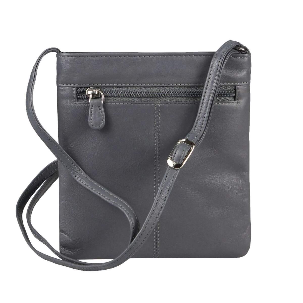 OBC Damen Leder Tasche Crossbody Handtasche Umhängetasche JJ6124.DuGrau