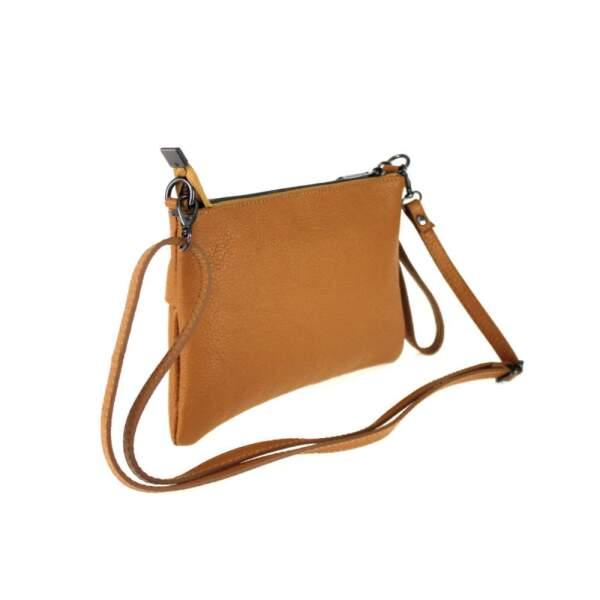 Made in Italy Damen Tasche Handtasche Schultertasche Clutch Echt Leder