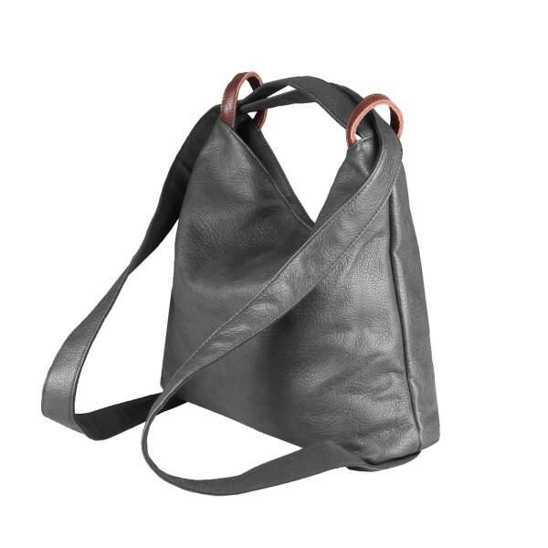 OBC Damen Tasche Rucksack 2 in 1 Umhängetasche